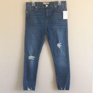 Free People | Raw Hem Denim Stretch Jean size 30